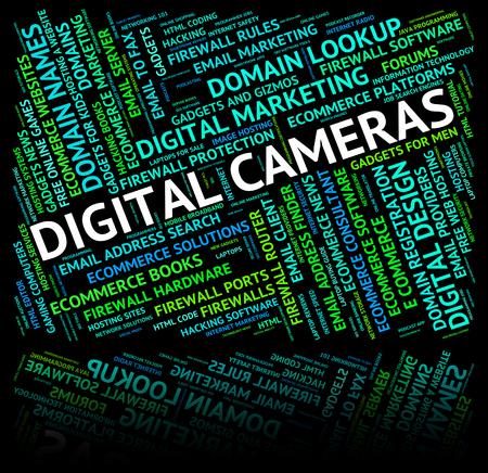 tec: Digital Cameras Representing High Tec And Technology