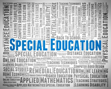 special education: Special Education Indicating Slow Learner And Develop