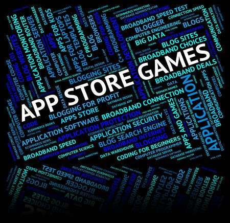 play time: App Store Games Representing Play Time And Recreation Stock Photo