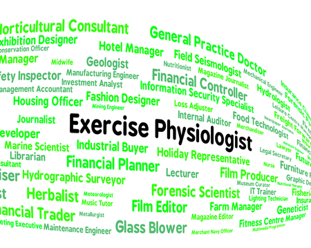 physiologist: Exercise Physiologist Representing Training Occupation And Trainer