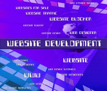 regeneration: Website Development Indicating Progress Buildout And Regeneration