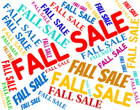 closeout: Fall Sale Indicating Save Closeout And Autumnal Stock Photo