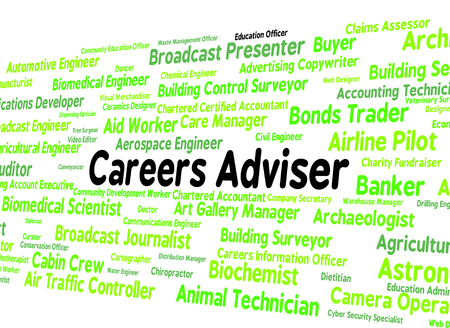 tutor: Careers Adviser Meaning Employment Position And Tutor Stock Photo