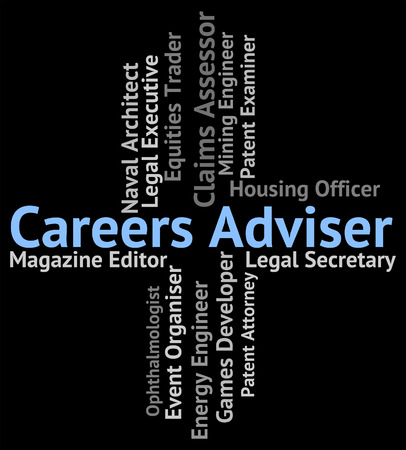 advisers: Careers Adviser Representing Advising Jobs And Instructor Stock Photo