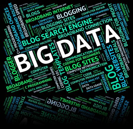 fact: Big Data Meaning Large Information And Fact Stock Photo