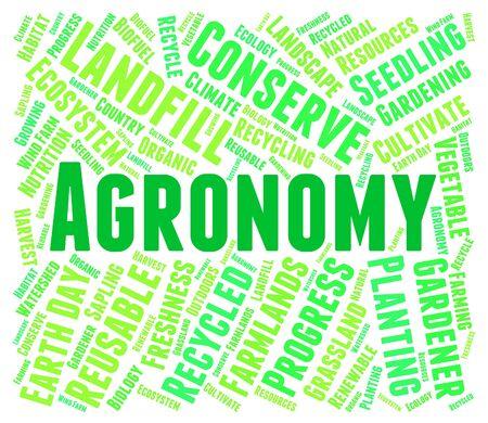 farmstead: Agronomy Word Indicating Farm Agronomics And Farmstead