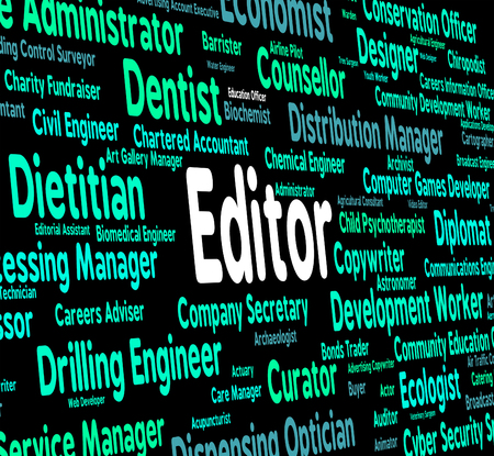 editing: Editor Job Indicating Occupation Hire And Editing