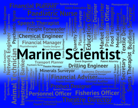 seafaring: Marine Scientist Meaning Word Work And Seafaring Stock Photo