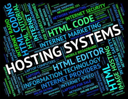 webhost: Hosting Systems Indicating Webhosting Text And Computing