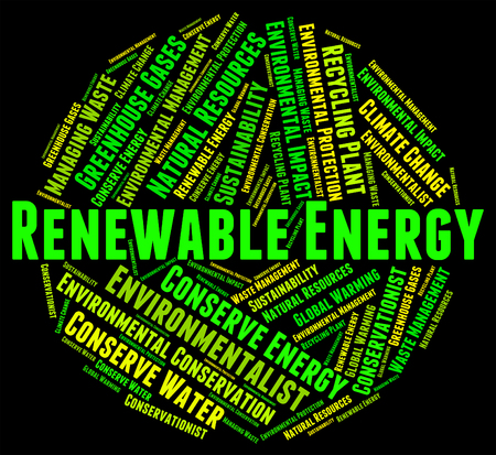 energize: Renewable Energy Showing Power Source And Energize