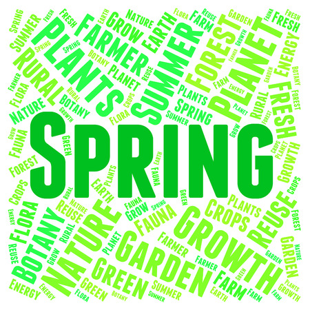 spring tide: Spring Word Meaning Season Springtide And Words Stock Photo