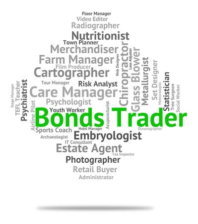 importer: Bonds Trader Indicating Traders Indentures And Selling Stock Photo