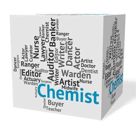 examiner: Chemist Job Representing Lab Technician And Position Stock Photo
