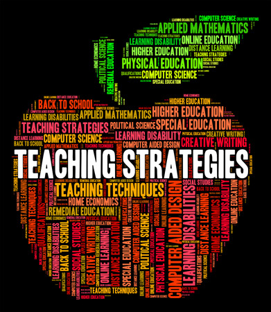 business strategy: Teaching Strategies Meaning Business Strategy And Tutor Stock Photo