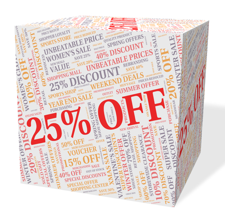 twenty five: Twenty Five Percent Meaning Sales Cheap And Promotion