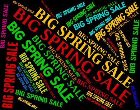 spring tide: Big Spring Sale Indicating Bargains Discounts And Text