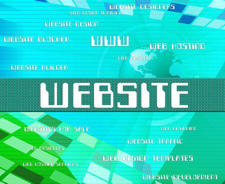 website words: Website Word Showing Words Technology And Websites