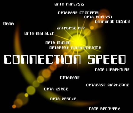 speed: Connection Speed Showing Speeds Internet And Joined Stock Photo