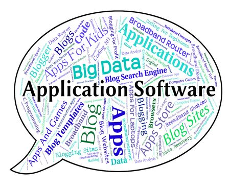 shareware: Application Software Representing Applications Word And Programming Stock Photo