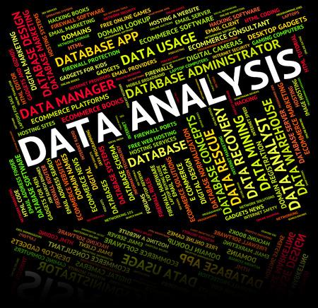 analytic: An�lisis de Datos En representaci�n Anal�tica Anal�tica Y Hecho Foto de archivo