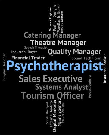 insanity: Psychotherapist Job Representing Emotional Disorder And Recruitment Stock Photo