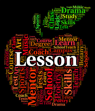 word lesson: Lesson Word Meaning Lectures Seminar And Text