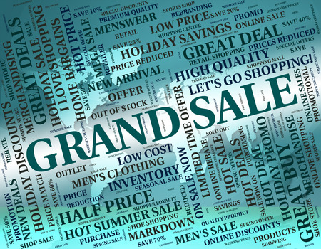 grand sale: Grand Sale Meaning Clearance Discounts And Promotion