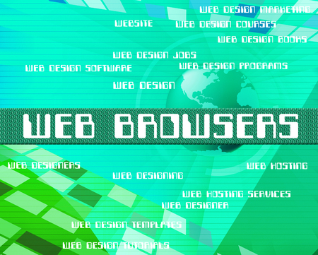 browsers: Web Browsers Meaning Internet Words And Browsing