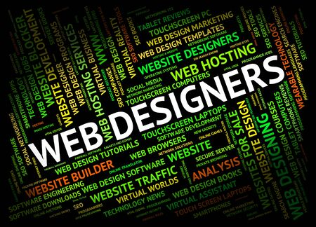 web designers: Web Designers Showing Websites Net And Network Stock Photo