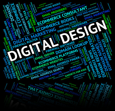 tec: Digital Design Meaning High Tec And Designed