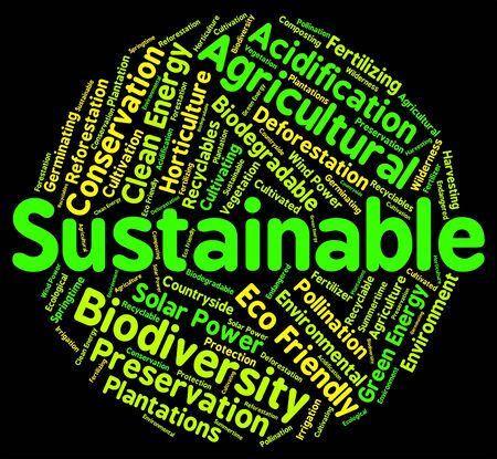 sustained: Sustainable Word Meaning Sustaining Sustained And Recycling