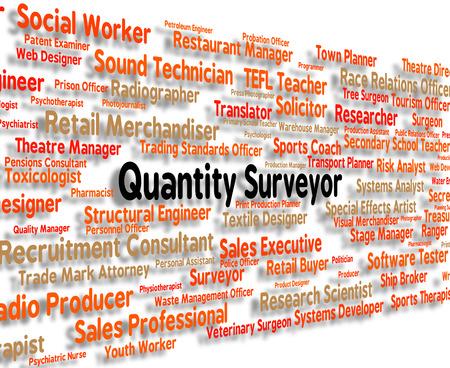 Quantity Surveyor Darstellen Berufe Betrag und Beruf Standard-Bild - 46508836