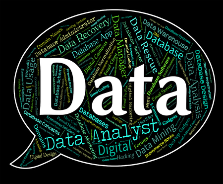 fact: Data Word Representing Technology Fact And Computer