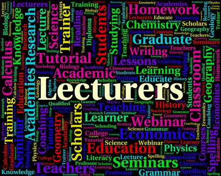 recitation: Lecturers Word Meaning Address Speeches And Presentations Stock Photo