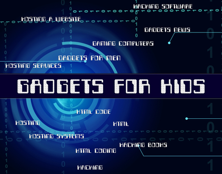 implement: Gadgets For Kids Meaning Mod Con And Implement Stock Photo