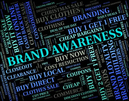 appreciate: Brand Awareness Meaning Appreciate Word And Recognition Stock Photo