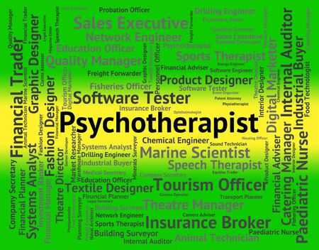 insanity: Psychotherapist Job Showing Emotional Disorder And Employee Stock Photo