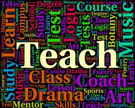 instruct: Teach Word Meaning Give Lessons And Instruct
