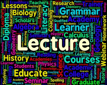 oration: Lecture Word Representing Speeches Orations And Addresses