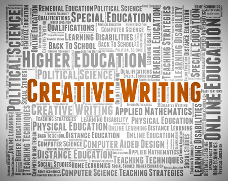 literary: Creative Writing Representing Literary Work And Poem
