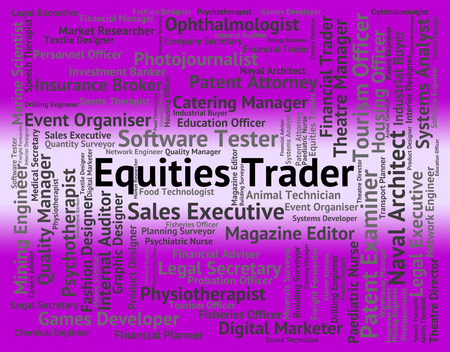 importer: Equities Trader Representing Financial Work And Occupation Stock Photo