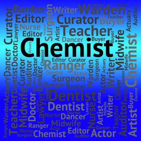 examiner: Chemist Job Meaning Examiner Text And Words Stock Photo