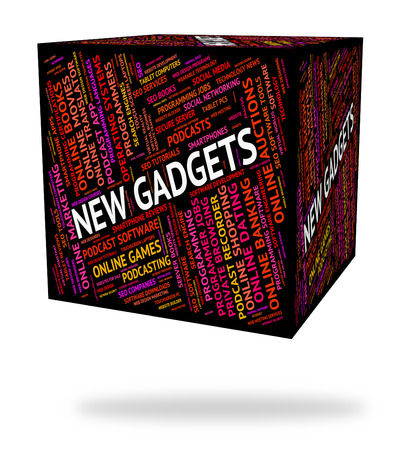 up to date: New Gadgets Meaning Up To Date And Newly Arrived Stock Photo