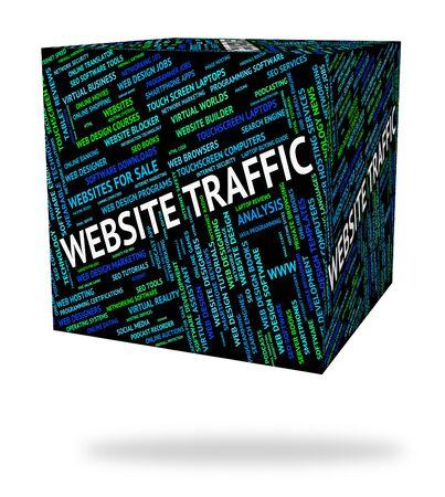 website words: Website Traffic Representing Www Words And Word