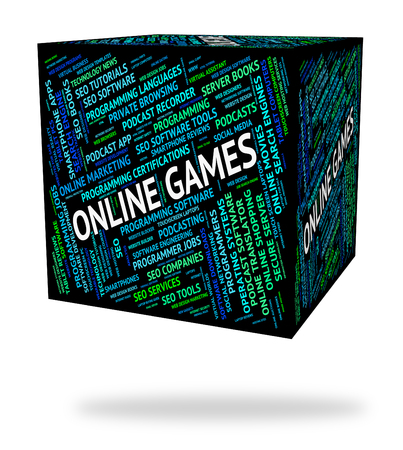 play time: Online Games Meaning World Wide Web And Play Time