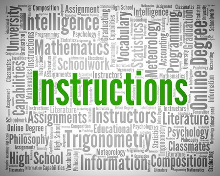 handbook: Instructions Word Indicating Guidelines Handbook And Direction Stock Photo