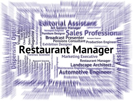 overseer: Restaurant Manager Representing Executive Overseer And Managers Stock Photo