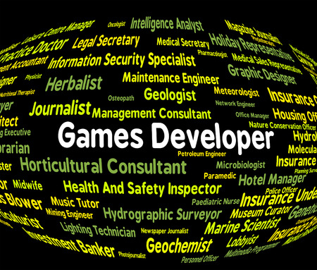 play time: Games Developer Indicating Play Time And Employment