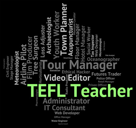 lessons: Tefl Teacher Representing Give Lessons And Tesl
