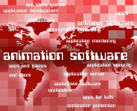 shareware: Animation Software Indicating Text Shareware And Motion